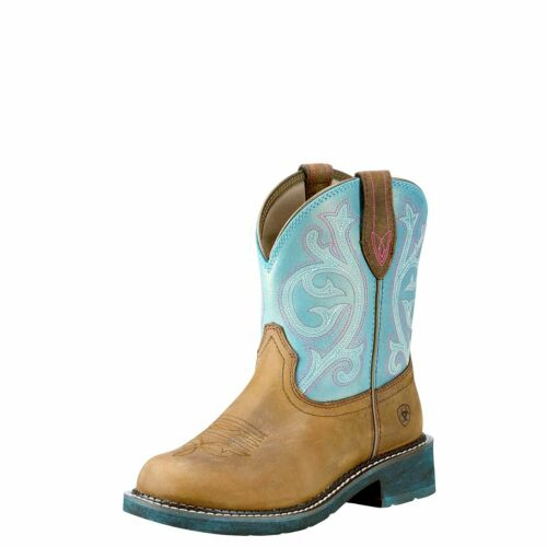 Distressed Brown Ariat Ladies Fatbaby Heritage Cowboy Boots