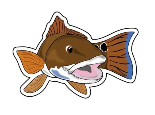 REDFISH STATE stickers decals fly fishing MANY STATES saltwater rod reels