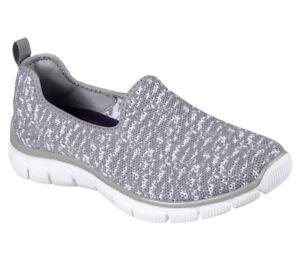 Empire New Foam Scene Slipper Women Grey Sweet Loafer Skechers Sneakers Memory CCqgS0Z