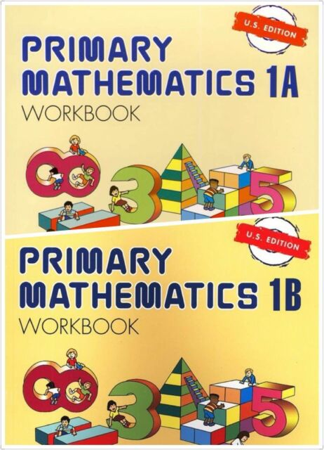 Primary Mathematics (2) Workbooks 1A and 1B US Edition -FREE Expedited Shipping