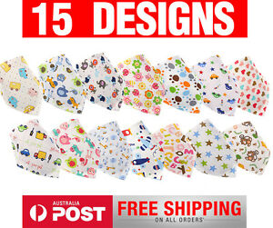 15-Designs-Cotton-Baby-Triangle-Bandana-Drool-Bib-Toddler-Bibs