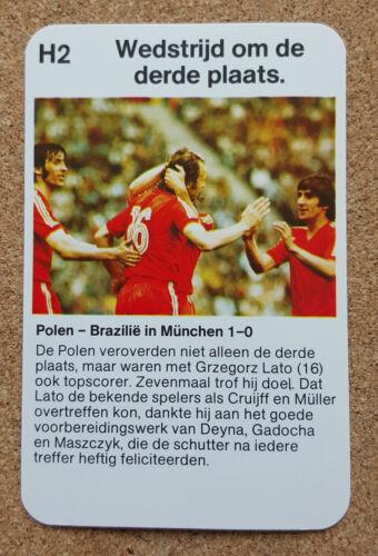 Highlights 1974 partidos de fútbol tarjeta de la Copa del Mundo-Varios WK 74 hoogtepunten