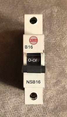 RED CLIP BY ELECTRIUM NSB16 wylex NSB mcb type B 16amp
