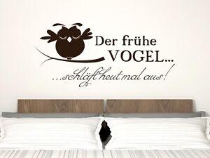 Wandtattoo Wandaufkleber Tattoo für Schlafzimmer Spruch Der frühe ...