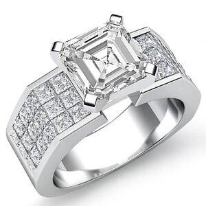 Asscher-Diamante-Robusto-Anillo-de-Compromiso-Certificado-GIA-i-VS2-14k-Oro