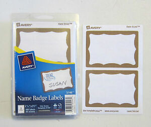 40 gold border badges name tags id labels adhesive peel label avery