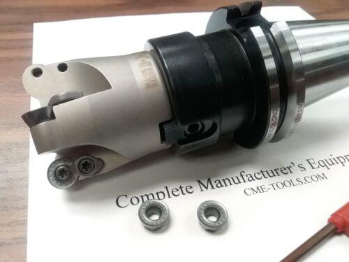 "CAT40 arbor#506-R200-2 w 2/"" face mill R200 4 Sandvik RCKT1204 Round inserts"