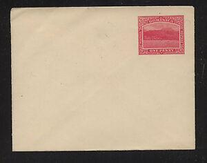 Dominica one penny postal envelope unused SS0323