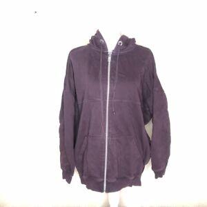 AllSaints Mens Jacket Purple Zip Up Wilde Hoody Hoodie Sweatshirt Size XS