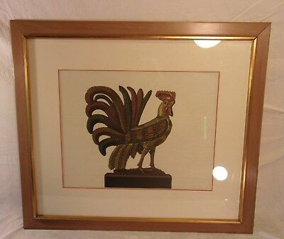 """Antiques Picture Frames Constructive Vintage Pine Frame With Rooster Print 25 1/2 X 29 Holds 22x25 1/2 Molding 2"""" Customers First"""