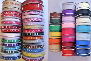 Grosgrain-ribbon-full-25m-rolls-10mm-25mm-lots-of-colours-wedding-crafts-sewing
