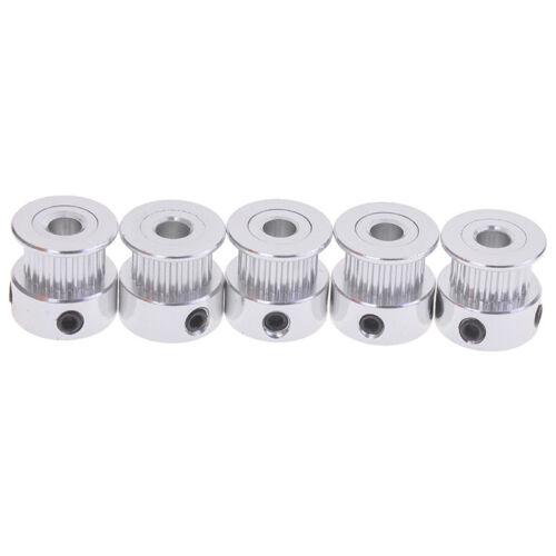 5Pcs gt2 timing pulley 20t 5//6.35//8mm bore for 6mm belt reprap 3d printer  ce