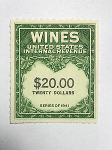 US-Revenues-Stamps-Collection-Scott-RE-181-20-WINES-Unused-MNH-NG-Cat-25