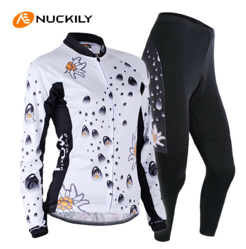 WomenCycling Jersey/&Pants Team Kits Suits Long sleeve Sport Bicycle Clothing