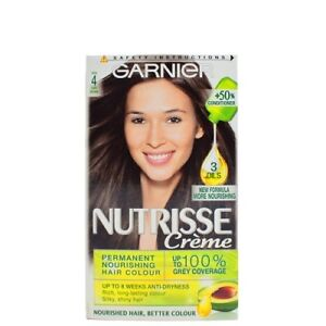 Details About Garnier Nutrisse Creme 4 Cocoa Dark Brown Hair Colour