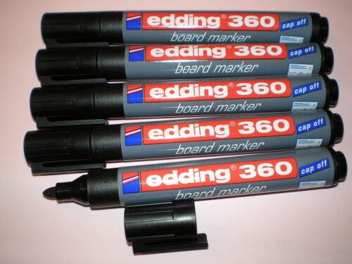 Whiteboard 5 Stück Edding 360 board-marker schwarz 1,5-3mm Boardmarker Stifte f