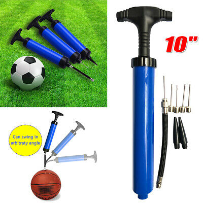 Ball Inflator Inflating Hand Air Pump For Football Soccer Basketball Needle