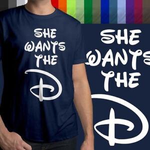 She-Wants-the-D-Funny-Naughty-Disney-Humorous-Fun-Mens-Tee-Crew-Neck-T-Shirt