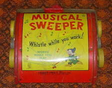 WALT DISNEY'S  SNOW WHITE  D0PEY  MUSICAL  SWEEPER  FISHER PRICE  #100 C. 1939