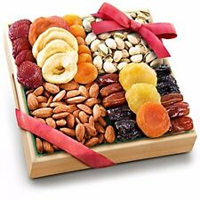 Dried Fruit Tray Gift Holidays Gourmet Food Basket Savory Nuts Apple Almonds