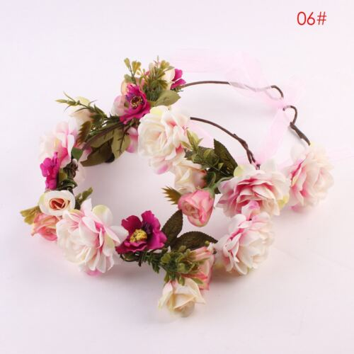 Mom And Kids Wedding Flower Hair Garland Crown Headband Floral Wreath Hairband