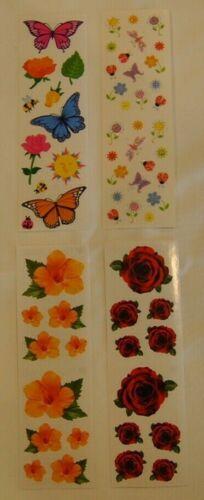 Mrs Grossman FLOWERS U CHOOSE Stickers ROSES HIBISCUS FLOWERS /& BUTTERFLIES