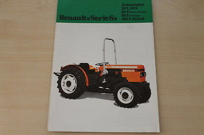 162071) Renault 50 60 80 480 S Allrad Prospekt 198? Moderne Techniken