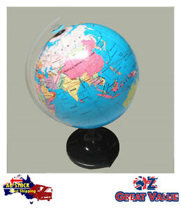 21-4cm-Quality-Universal-Globe-on-Stand-Revolving-Glossy-Surface-TOM-S601C