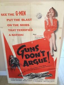 034-GUNS-DON-039-T-ARGUE-034-RARE-ORIGINAL-1957-CANADIAN-FULL-1-SHEET-MOVIE-THEATER-POSTER