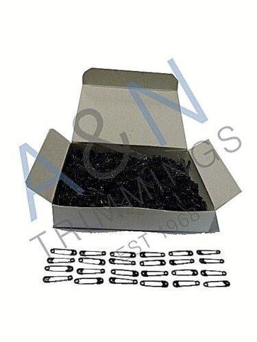 Pasadores de seguridad 19 mm Negro Qty 1440 piezas por caja ref Whitecroft 53022