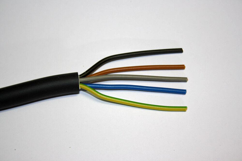 (  1m) Erdkabel NYY-J 5x1,5mm² 50m Ring Neu