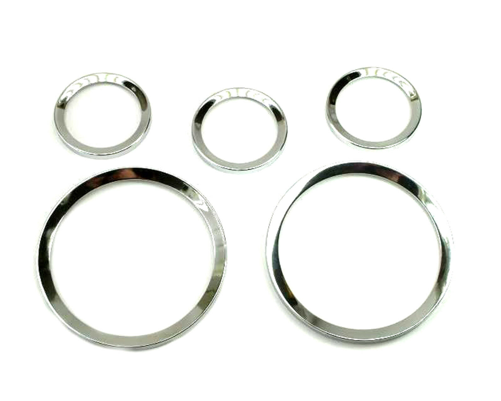 5X Chrome Ring Metal Fiat 124 850 Dino Veglia Borletti Chrome Instrument Bezels