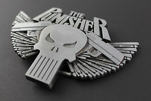 The punisher skull winged 2 guns belt buckle marvel comic book movie image is loading the punisher skull winged 2 guns belt buckle publicscrutiny Gallery