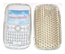 For Nokia Asha 302 / 3020 Pattern Gel Jelly Case Cover Protector Pouch Clear New