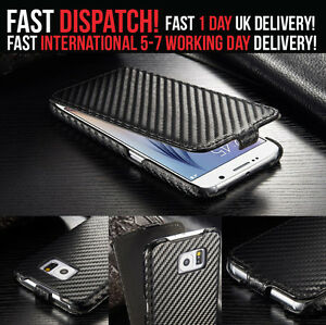 Luxury-Flip-Cover-Wallet-Leather-Carbon-Case-For-Samsung-Galaxy-S6-EDGE-S7-EDGE