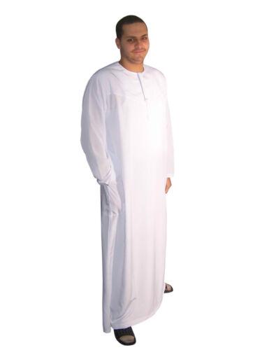 wunderschöner eleganter Herren Kaftan weiß aus1001 Nacht in Omani Stil KAM00386