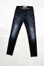 """ROY ROGER'S Lady """"CATE"""" HISTORICAL JEANS SLIM DENIM BLUE FADED Sz 26/40 W26 Uk8"""