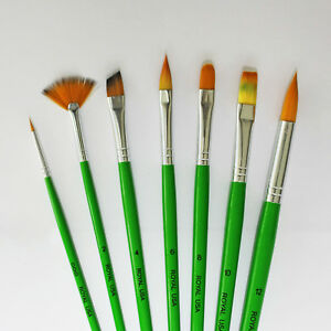 Image Is Loading Artist Paint Brush Set 7pc Fine Detail Quality