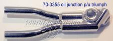 Triumph pre unit oil junction engine to oiltank E3355 70-3355 1938-62 Ölanschluß