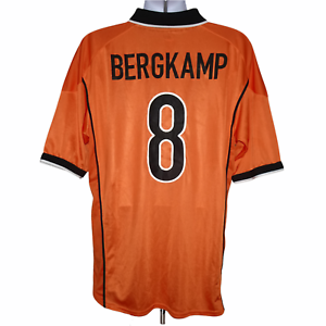 1998-2000 Holland Home Shirt #8 Bergkamp Nike XL (Excellent Condition)