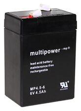 Blei Akku 6V 4,5AH AGM GEL Batterie USV ersetzt 5Ah 4Ah 6Volt LC-R064R5P Battery