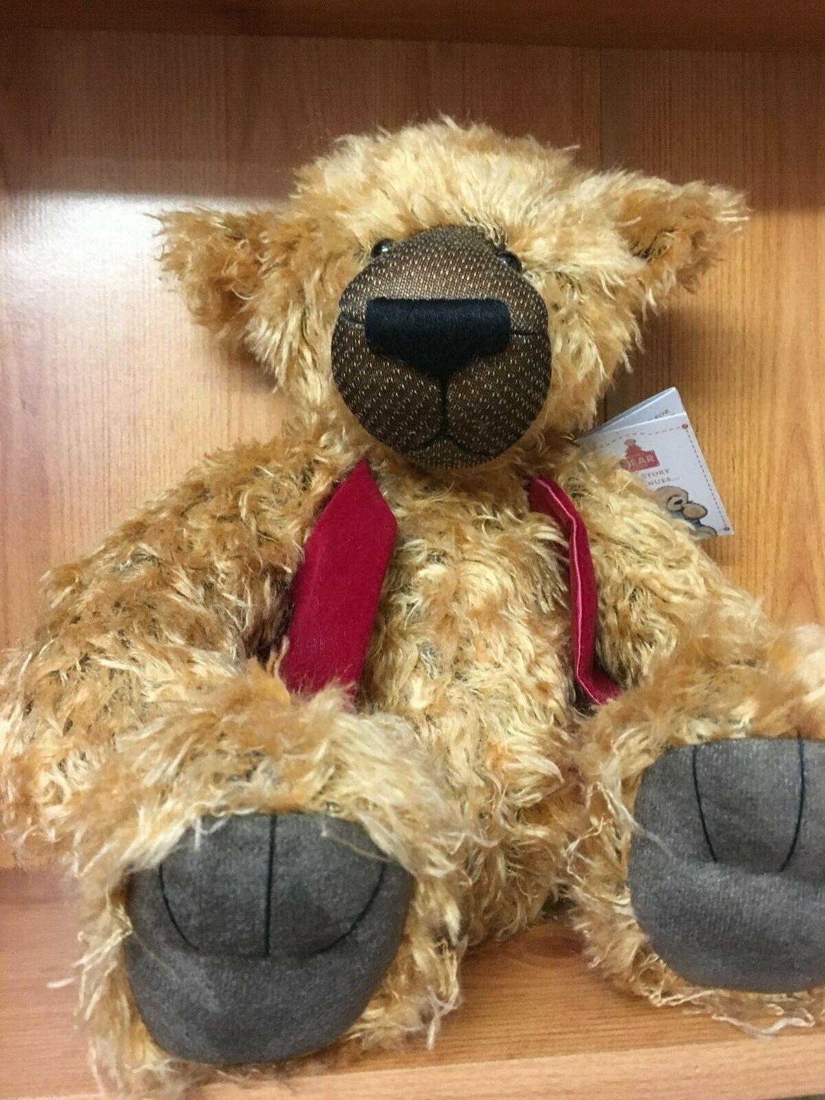 CHARLIE BEARS ALICES BEAR SHOP BEARS WOODROFFE + FREE BOOK