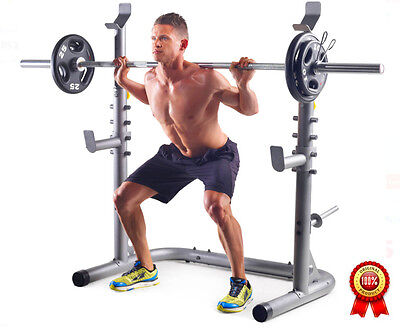 home training squat rack workout bench gold's gym power