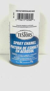 details about testors flat white spray paint can 3 oz 1258. Black Bedroom Furniture Sets. Home Design Ideas