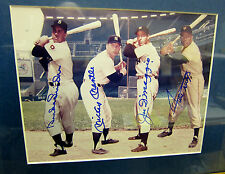 WILLIE MAYS,MICKEY MANTLE,JOE DiMAGGIO,DUKE SNIDER CENTERFIELD AUTOGRAPHED PHOTO