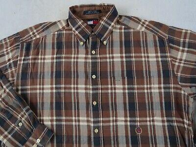 TOMMY HILFIGER MEN/'S REGULAR FIT BUTTON DOWN DRESS SHIRT BROWN