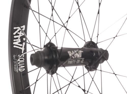 """RANT Parti ON V2 Vélo BMX 20/"""" Roue avant SHADOW SUBROSA CULT KINK HARO Noir"""