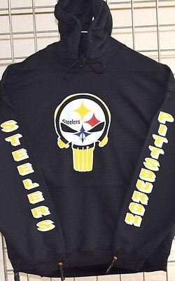 2XL S L 3XL 4XL M 5XL Pittsburgh Steelers: PUNISHER  Long  Sleeve Tee XL