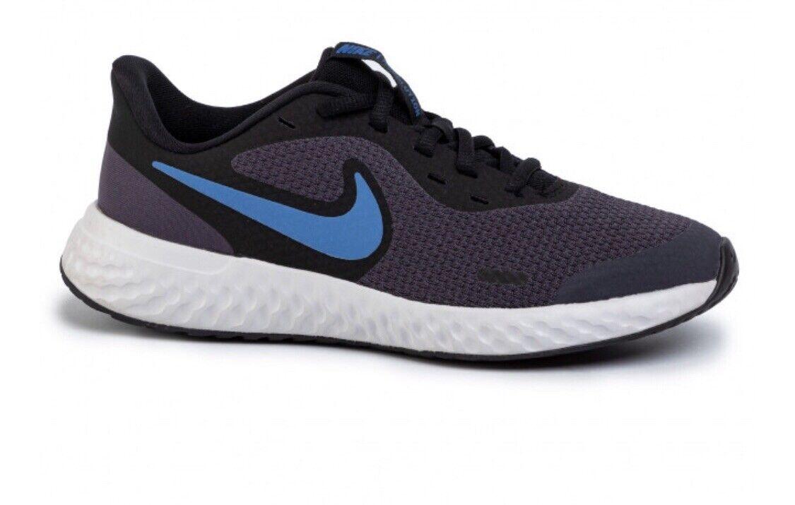 Nike Revolution 5 Formateurs Nouveau UK 3 Running Gym Sports École Chaussures Bleu Nouveau