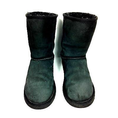 UGG Australia Classic Short Sheepskin Boots Charcoal S/N 5251 Size 5 USA.